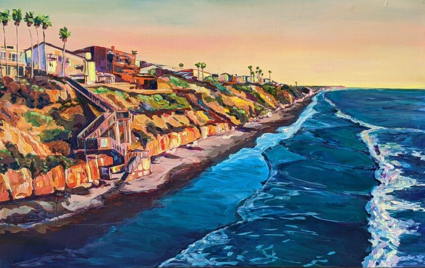"""Artist Kate Joiner's """"Grandview"""" will be featured in the Leucadia 101 Main Street art auction."""