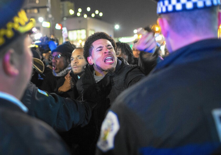 Chicago police protest