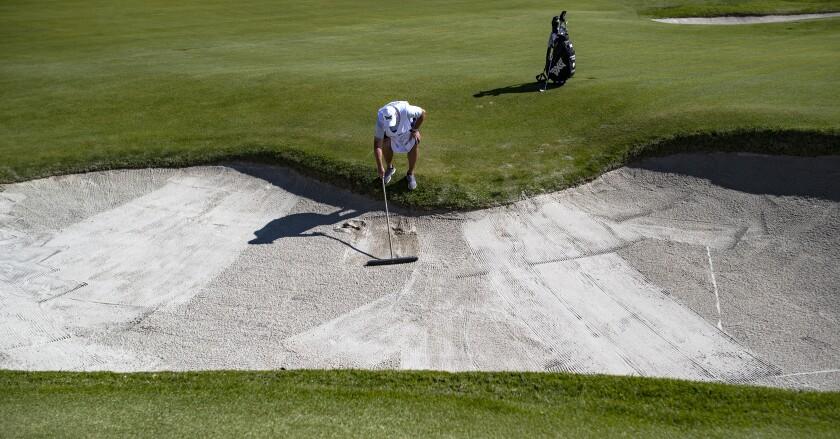 Footprints, sandy greens and sore ankles: Why poor bunker raking rankles golfers