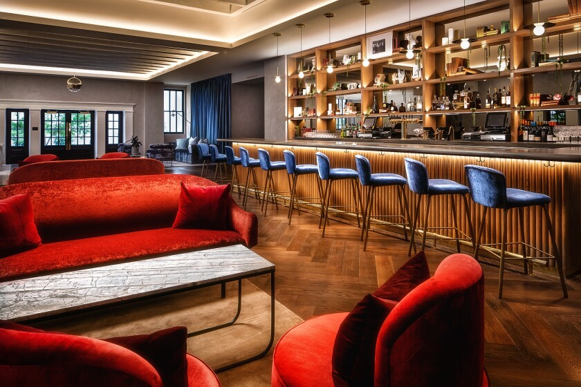 The bar is one of the featured amenities of the newly opened Guild Hotel, the latest incarnation of the nearly century-old YMCA building in downtown San Diego.