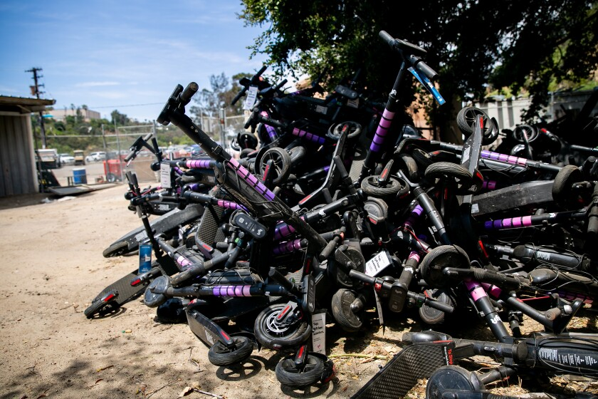 Impounded Scooters in San Diego