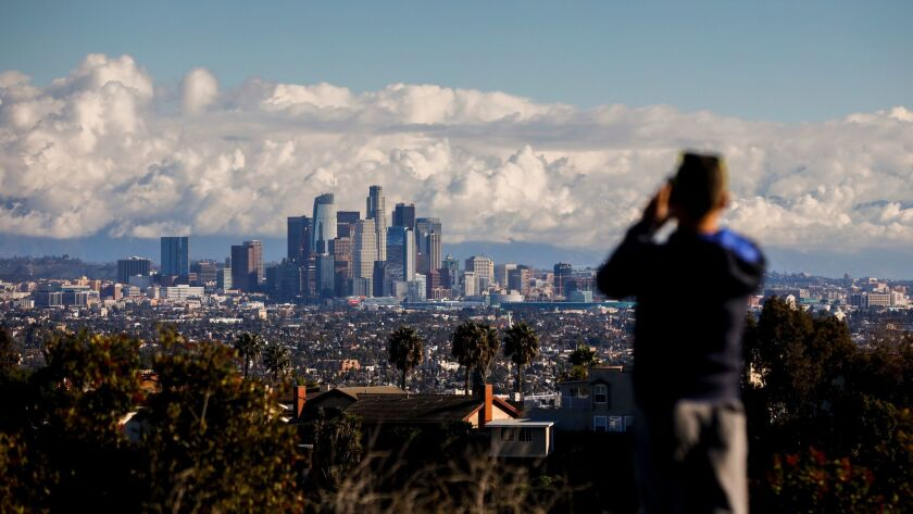 View of downtown Los Angeles from Kenneth Hahn State Recreation Area.