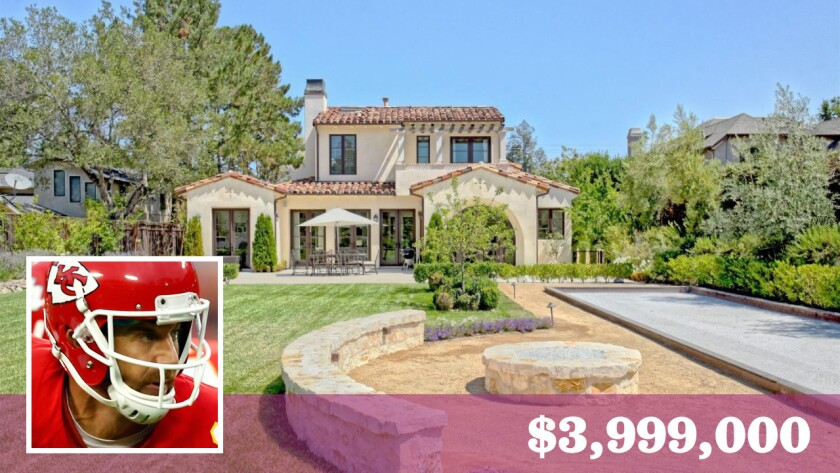 Former San Francisco 49ers quarterback Alex Smith, now with the Kansas City Chiefs, has put his home in Monte Sereno, Calif., on the market for $3.999 million.