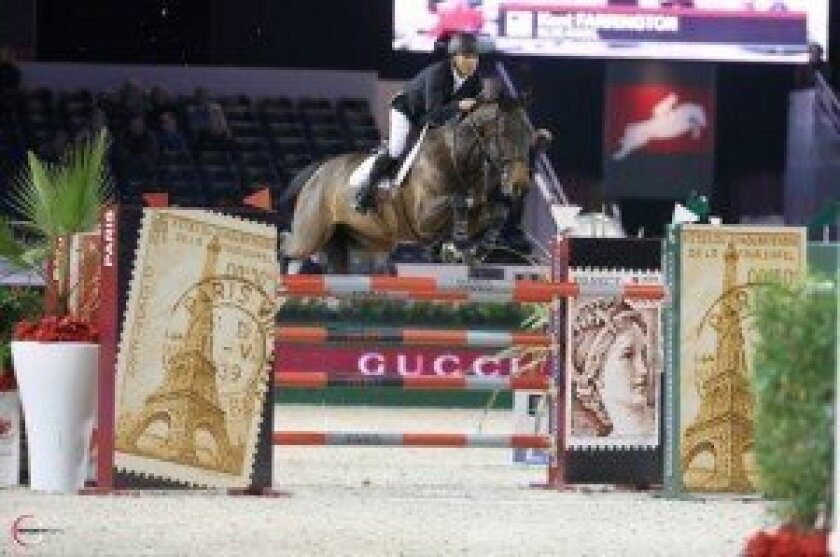 Blue Angel with Kent Farrington in Paris at the Gucci Masters. Photo by SportFot