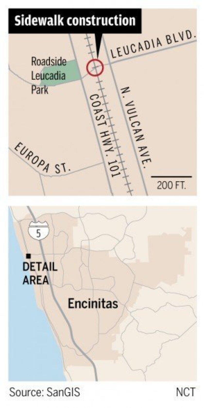 ENCINITAS: City overhauls railroad crossing - The San go ... on ma railroad map, gt railroad map, nys&w railroad map, sp railroad map,