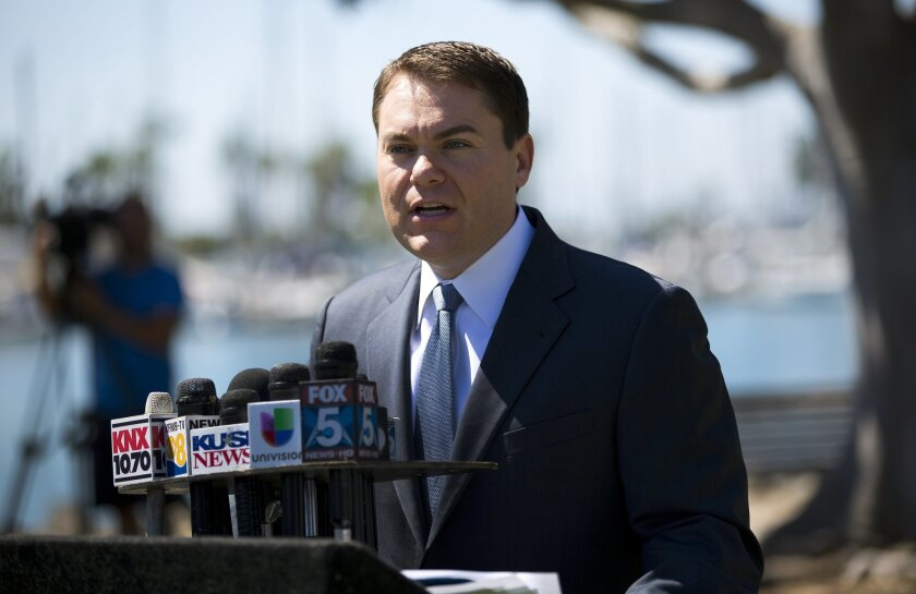 Carl DeMaio held a press conference Tuesday to announce he would not run for mayor.  Instead he will continue to campaign for U.S. congress.