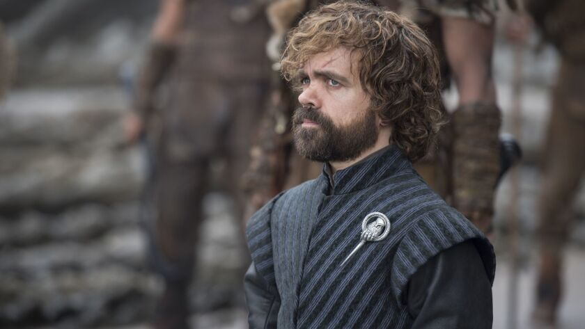 "This image released by HBO shows Peter Dinklage in a scene from ""Game of Thrones."" Dinklage was nomi"