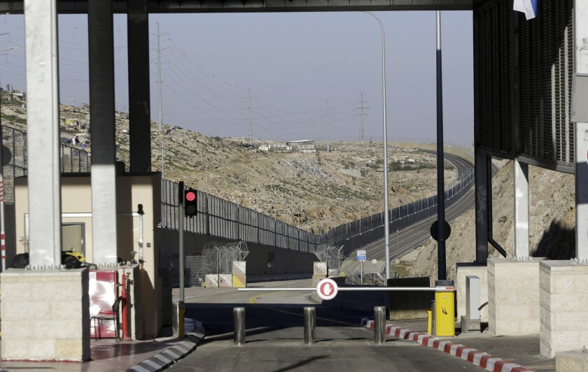 A checkpoint at segregated West Bank highway