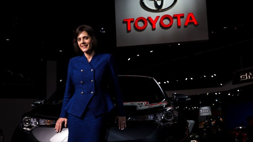 LOS ANGELES, CA - NOVEMBER 29: Toyota North America Vice President Lisa Maaterazzo poses for a portr