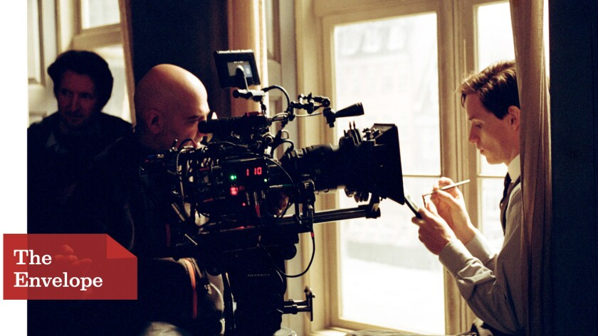 "Danny Cohen films Eddie Redmayne on the set of ""The Danish Girl"""