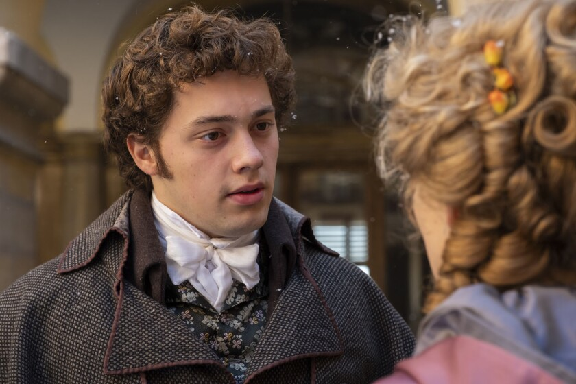 """Anselm Bresgott as the young Beethoven in the movie """"Louis Van Beethoven."""""""