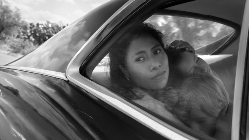"This image released by Netflix shows Yalitza Aparicio in a scene from the film ""Roma,"" by filmmaker"