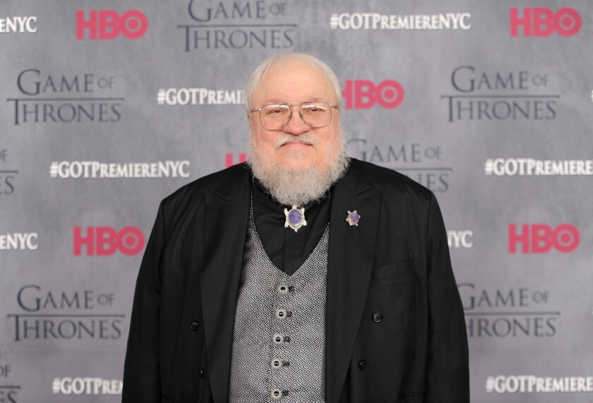 """Author-executive producer George R.R. Martin at HBO's """"Game of Thrones' """" fourth-season premiere in New York."""