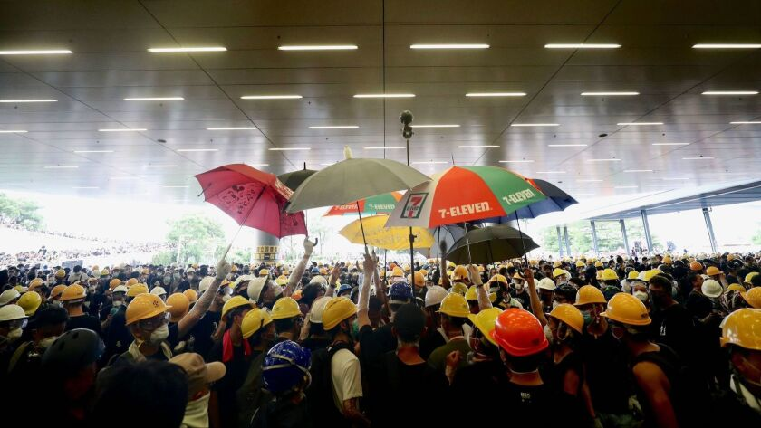 Anti-extradition bill protest in Hong Kong, China - 01 Jul 2019