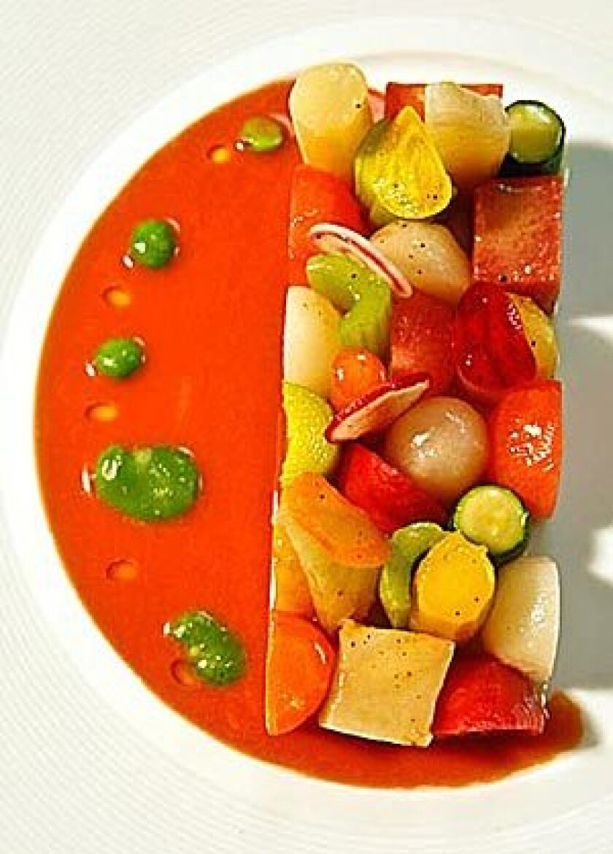 Seasonal glazed vegetables at Patina.