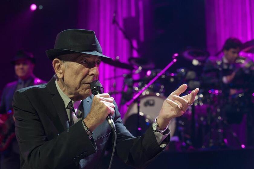 Fotografía de archivo del cantante canadiense Leonard Cohen. EFE/ARCHIVO