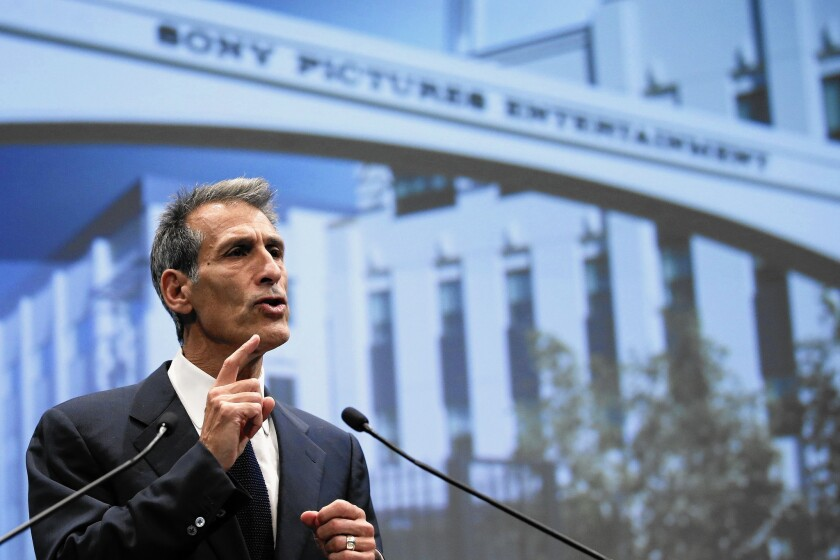 Hollywood studios show support for Sony after attack in MPAA statement