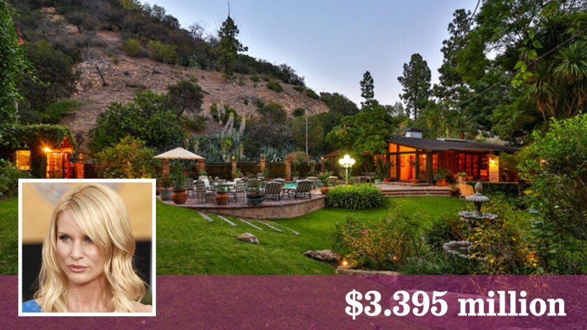 The single-story ranch house is set on 1.5 acres in Bel-Air.