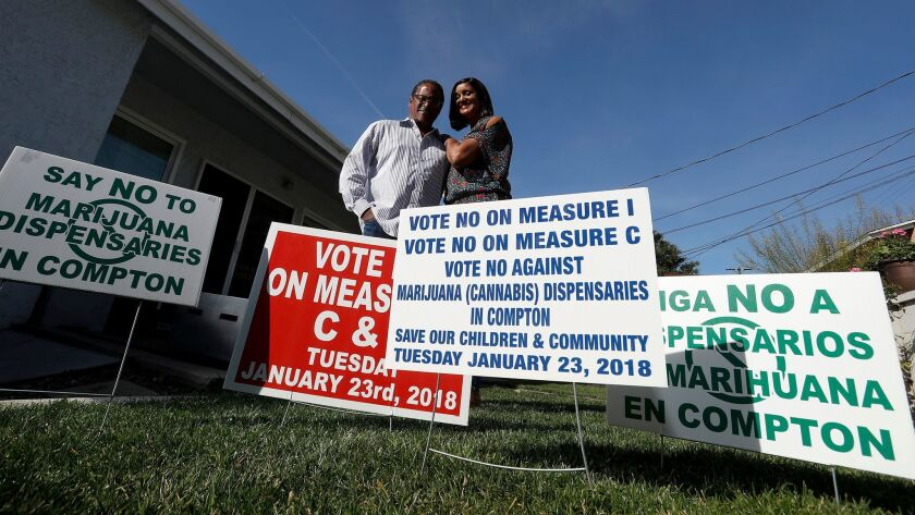 COMPTON, CALIF. - JAN. 27, 2018. Compton residents James and Charmaine Hays put together a volunte