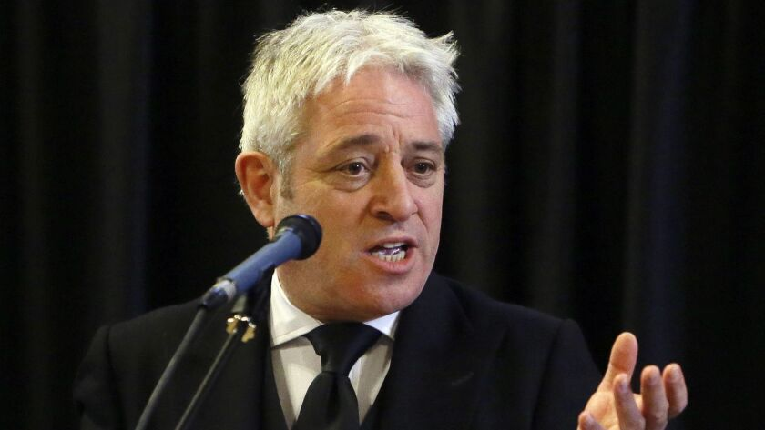 """John Bercow, speaker of the House of Commons, said a new motion introduced by Prime Minister Theresa May would have to be """"fundamentally different."""""""