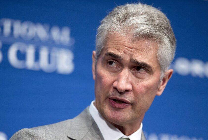 Jeff Smisek speaks at the National Press Club in Washington on May 15.
