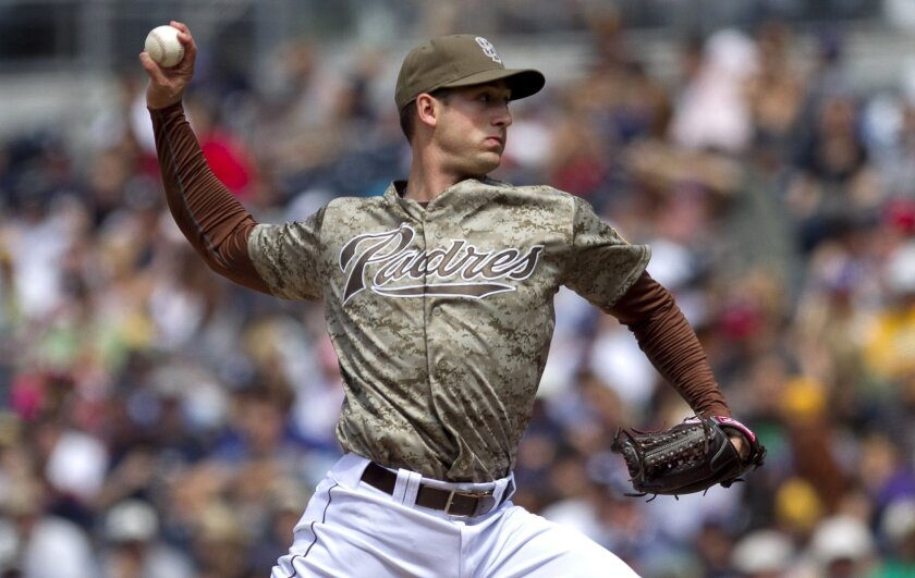 Padres pitcher Joe Wieland is facing elbow surgery.