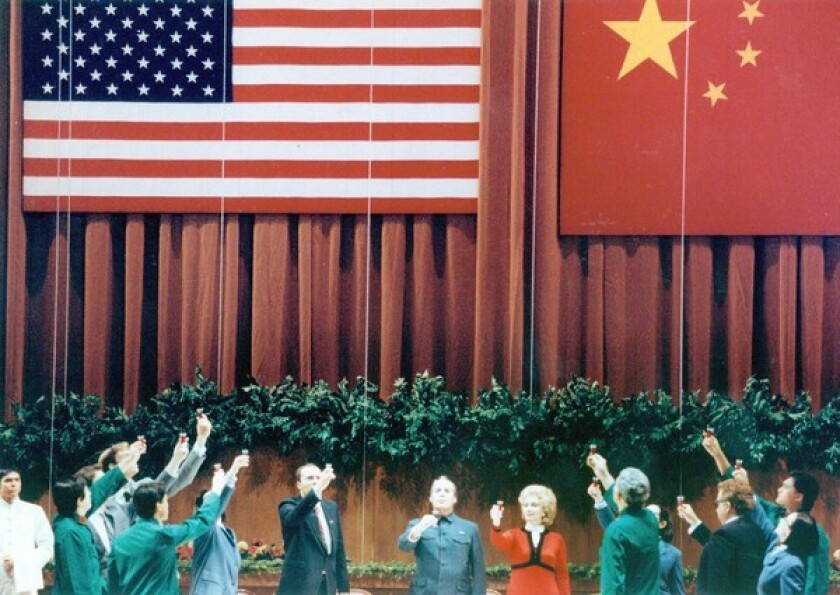 """Last seen locally in this 1990 Los Angeles Music Center production, John Adams' """"Nixon in China"""" is coming to Long Beach, Vancouver and the Met."""