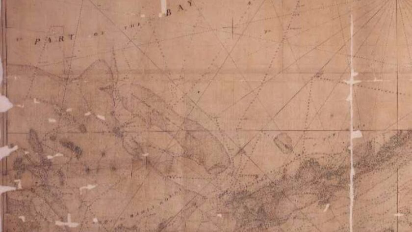 Unearthed 18th Century British nautical charts help document