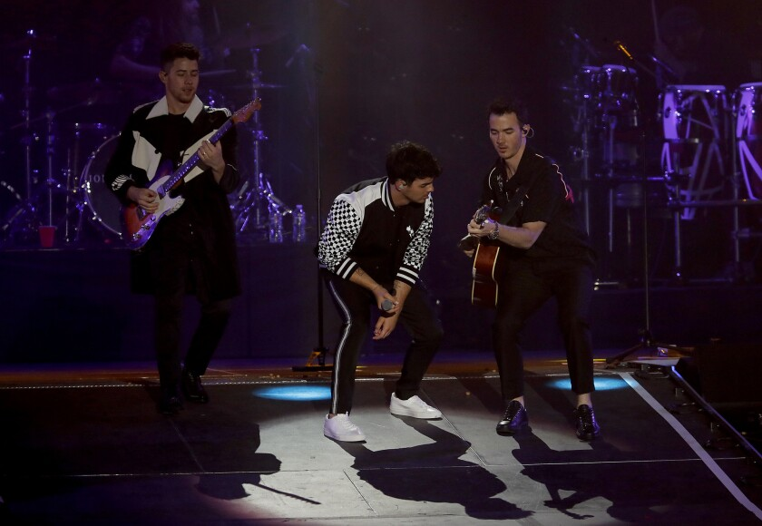 CARSON, CALIF. - JUNE 1, 2019. The Jonas Brothers perform at Wango Tango 2019 at the Dignity Healt