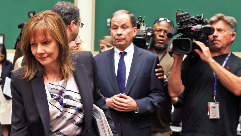 General Motors CEO Mary Barra arrives at a House Energy and Commerce subcommittee hearing on Capitol Hill.