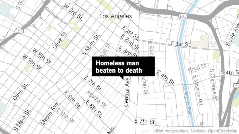 Beating death of homeless man on skid row