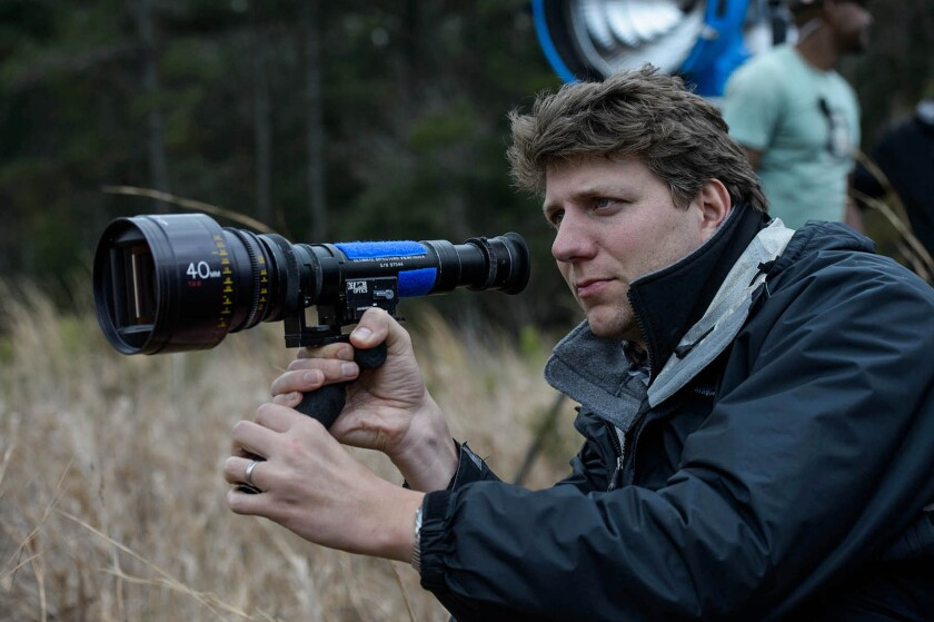 """Director Jeff Nichols on set during the filming of """"Midnight Special."""""""