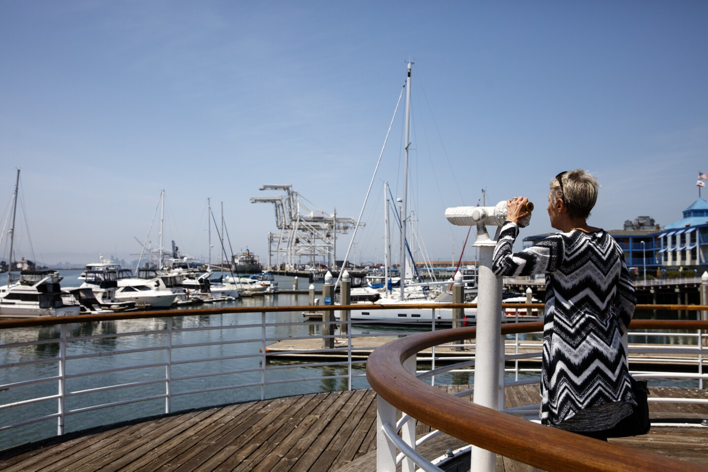 The waterfront, at Jack London Square, in Oakland, Calif.