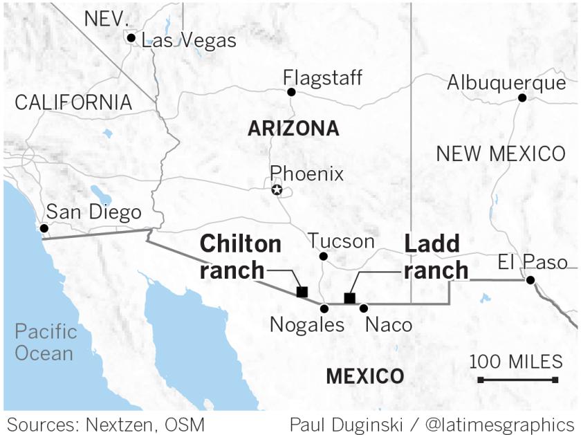 Ranches on the Arizona-Mexico border