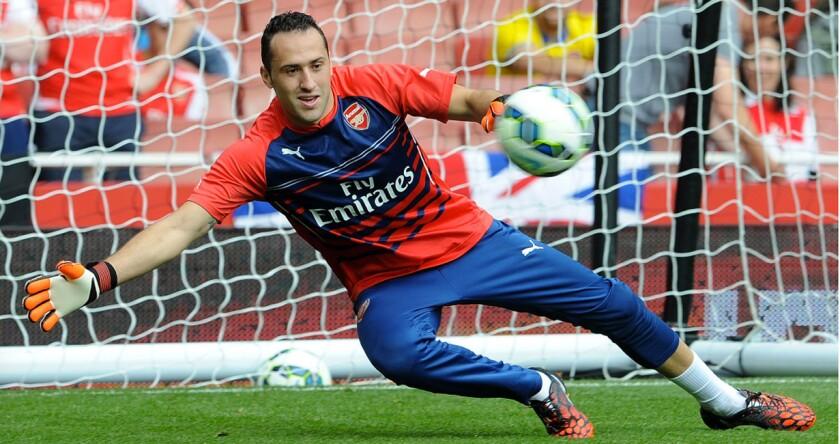 David Ospina, portero colombiano del Arsenal.