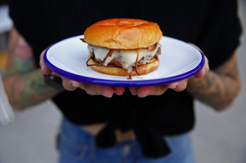 Burger at Go Get 'Em Tiger in Larchmont