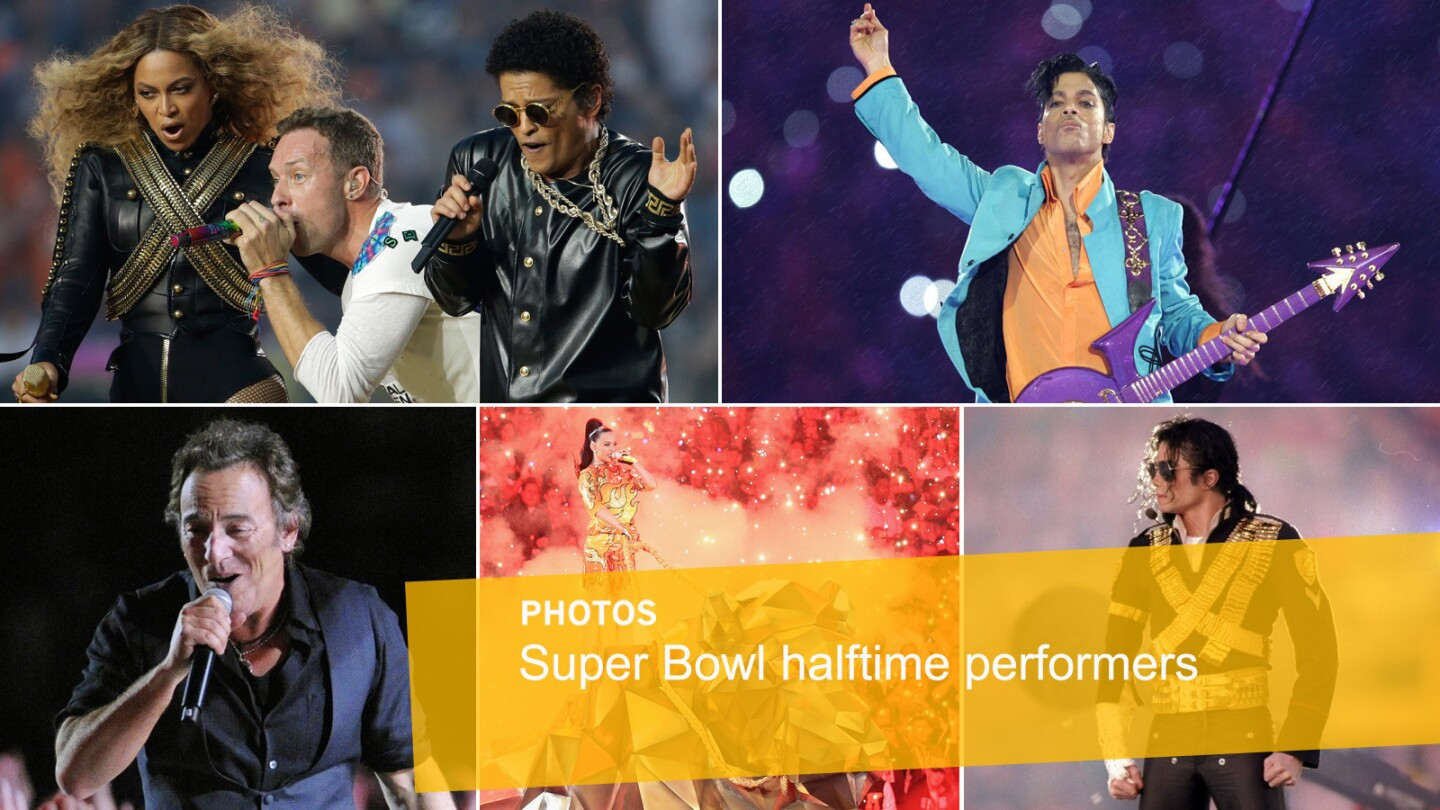 For people who aren't football fans but who watch the game anyway, the halftime spectacle is more than half the fun. The 2016 performance featured Coldplay, Bruno Mars and Beyonce. Here's a look at how some previous Super Bowl performances came off.