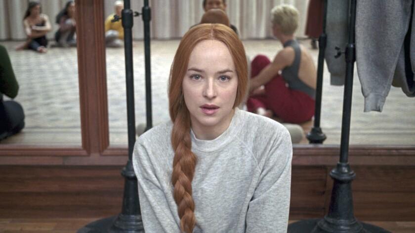 "Dakota Johnson as Susie Bannion in the film ""Suspiria"" Credit: Amazon Studios"