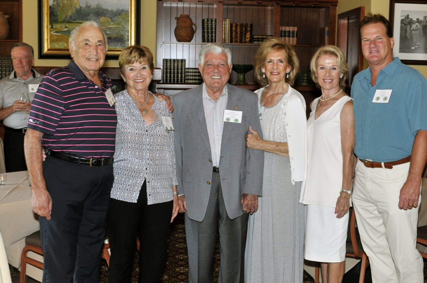 Major donor Dan Green, Bev Boyce, major donor/co-founder Bob Baker, MaryAnn Smith, trustee Dita Baker, selection committee member Steve King
