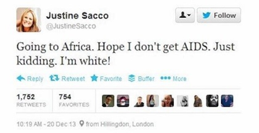 Justice Sacco tweet