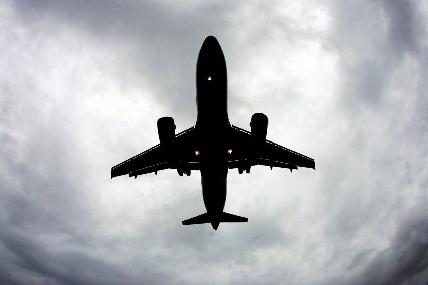 An airplane flying