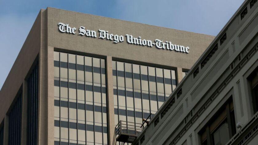 600 B Street, home of The San Diego Union-Tribune.