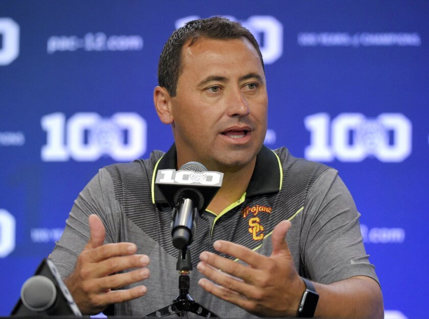 USC football Coach Steve Sarkisian.