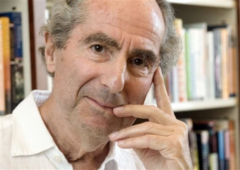 "FILE - In this Sept. 8, 2008 file photo, author Philip Roth poses for a photo in the offices of his publisher Houghton Mifflin, in New York. On Tuesday night, April 30, 2013 Roth received the PEN/Allen Foundation Literary Service Award. He was cited for such novels as ""Sabbath's Theater"" and ""Ameri"