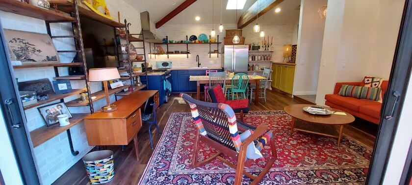 A 600-square-foot granny flat in La Mesa was created from a converted garage.