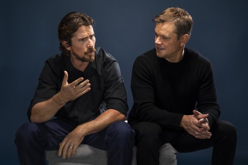 Christian Bale, left, and Matt Damon