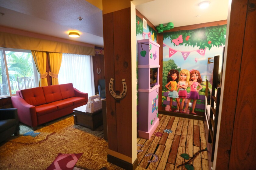 The Legoland Hotel adds new themed rooms: Lego Friends, from Heartlake City.