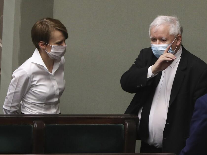Virus Outbreak Poland Politics