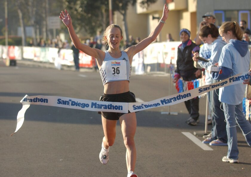 Jen Rhines, who lives in Mammoth Lakes, hopes to compete in the 10,000 meters at the 2012 London Olympics.