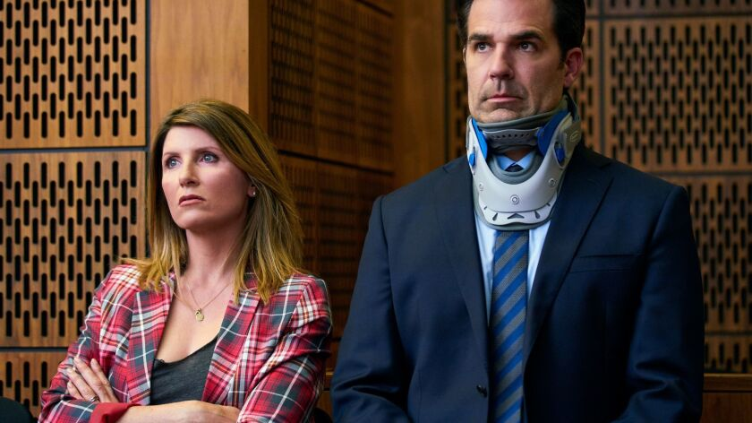 "Sharon Horgan and Rob Delaney in a scene from the Amazon series ""Catastrophe."""